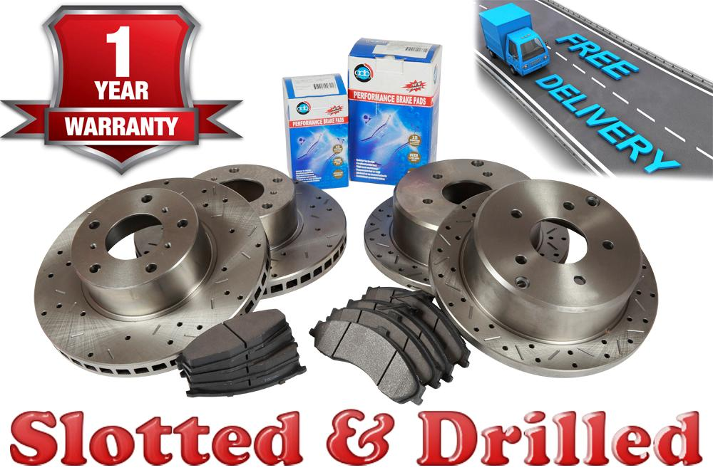 Ford-BF-Falcon-Front-Rear-Slotted-Drilled-Disc-Brake-Rotors-Pads
