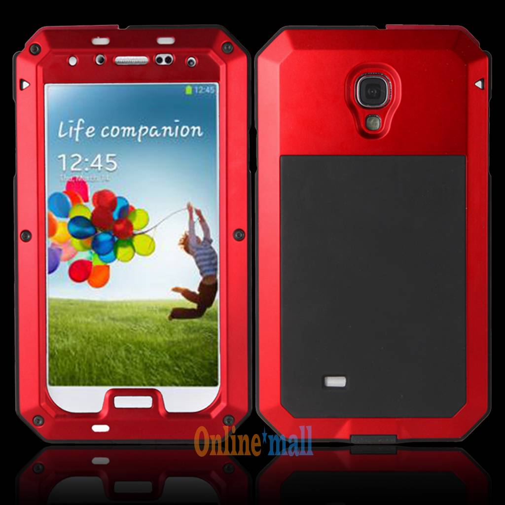 """Waterproof"" Gorilla Glass Case Aluminum Metal Samsung Note 4 S4 I9500/S5 I9600"