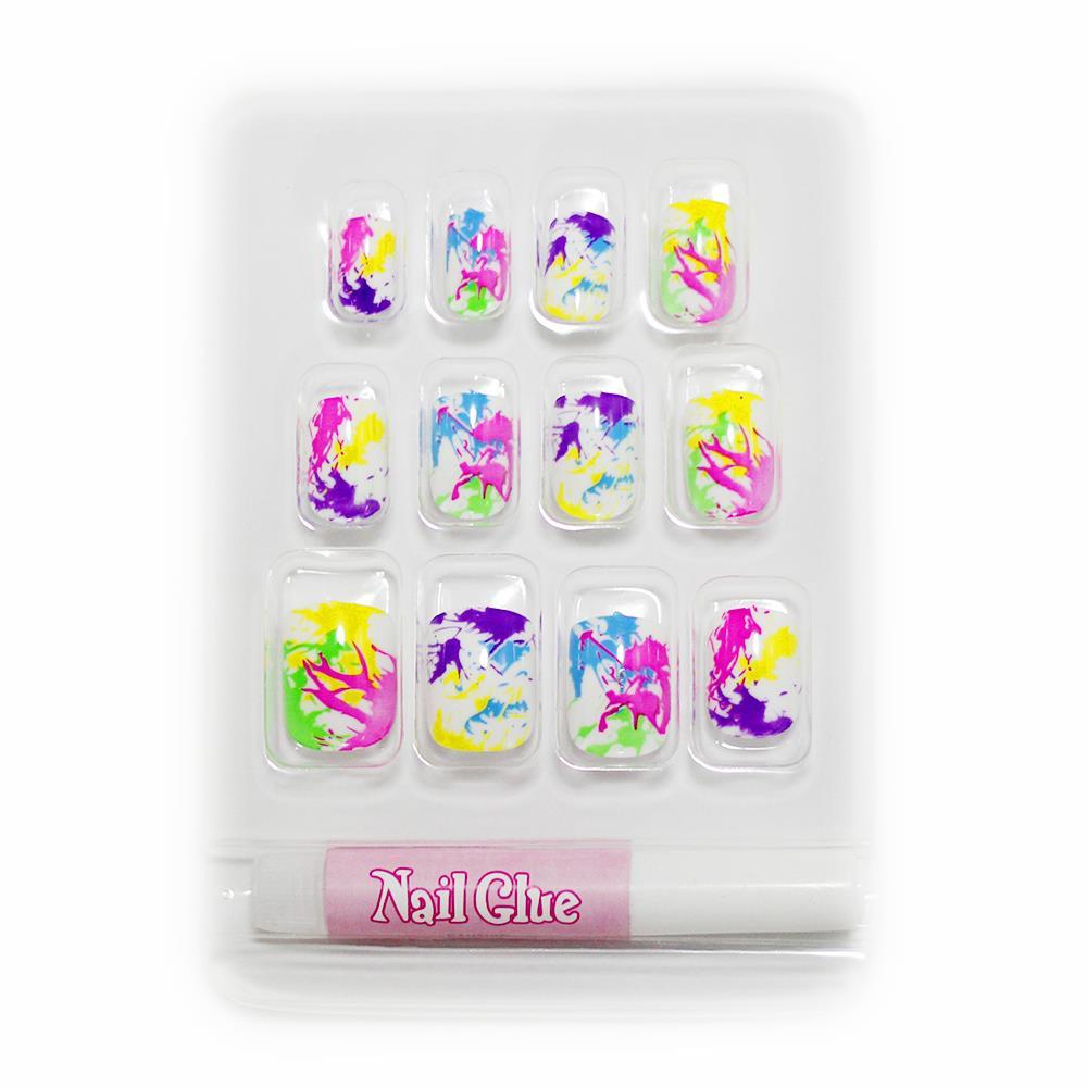 2016 for kids girls cute french false fake nails art full