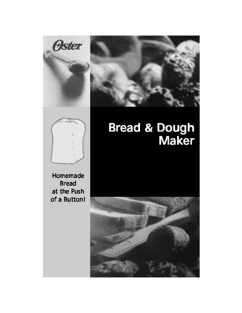 Black and Decker Bread Maker BK1015W User Manual