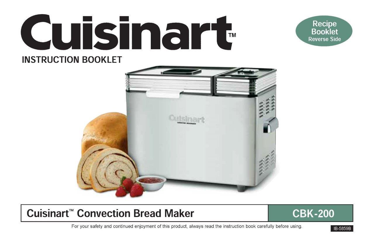 cuisinart bread machine recipe