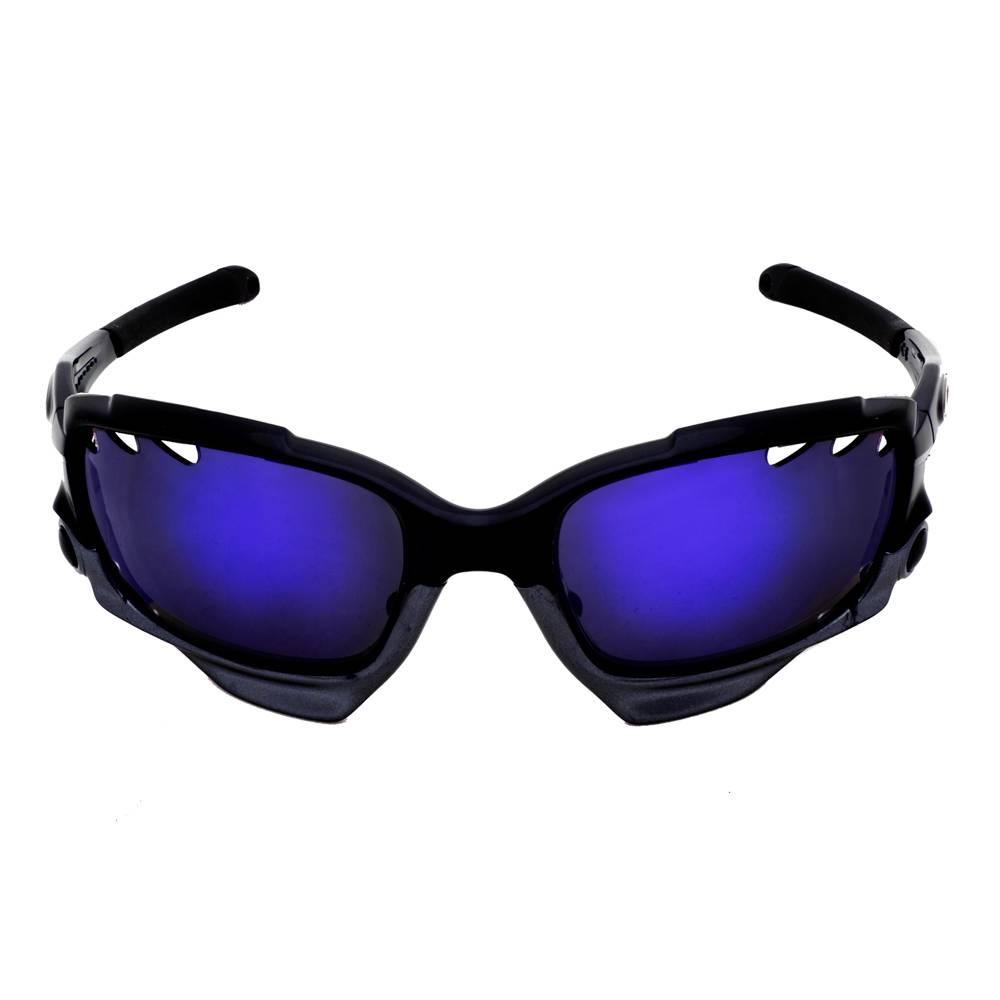 oakley flak jacket black iridium polarized lenses  polarized violet-purple