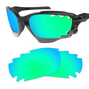 oakley flak jacket lenses polarized  polarized emerald-green