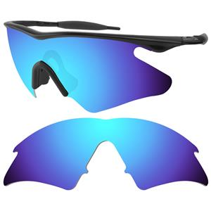 replacement lenses for oakley flak jacket  blue-replacement