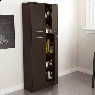 Modern Food Pantry Storage Cabinet Hutch Kitchen Dining