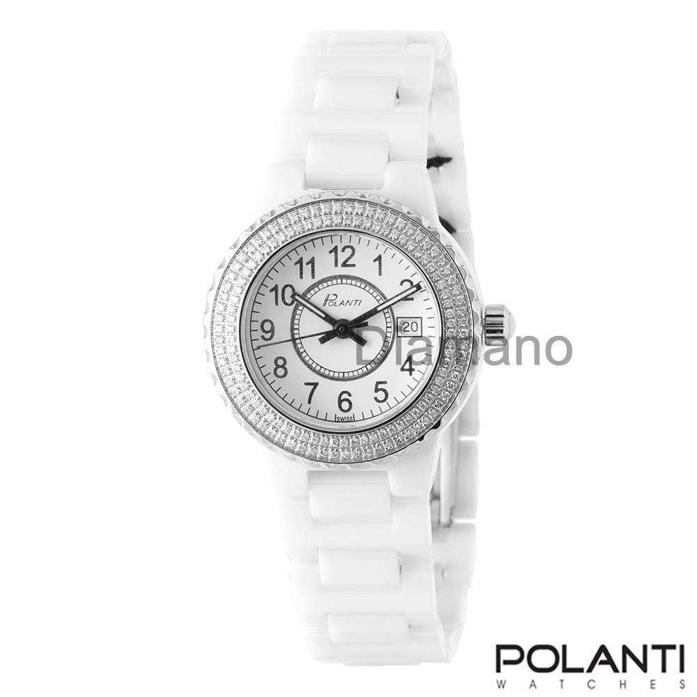 POLANTI DIAMOND AND PINK SAPPHIRE WRISTWATCH ITALIAN ...