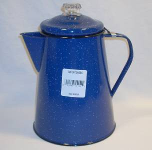 GSI Blue Enamelware 12 Cup Percolator Coffee Maker Pot Camping Hunting Scouts eBay