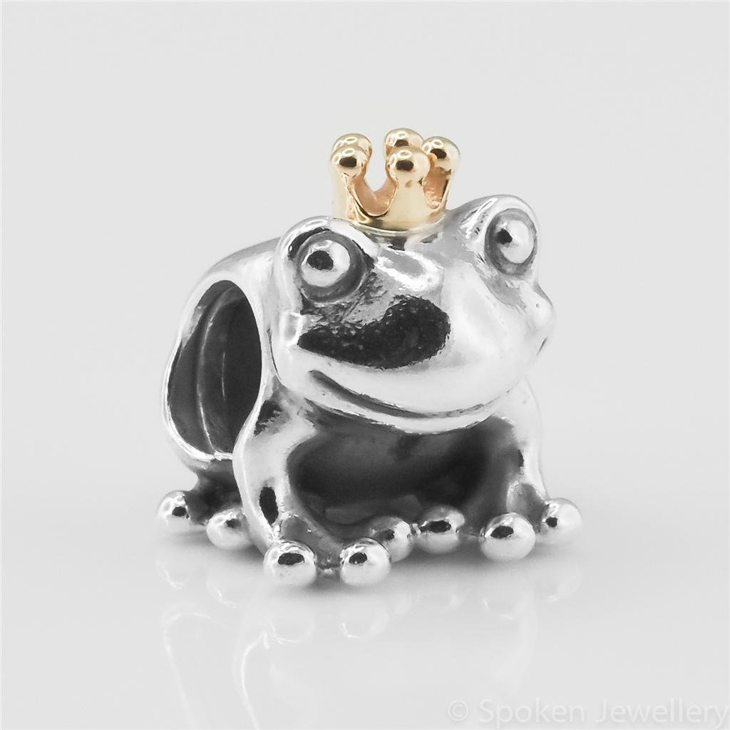 authentic genuine pandora two tone frog prince charm with