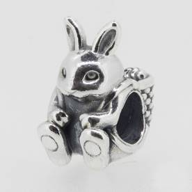 authentic genuine pandora charm silver easter bunny charm