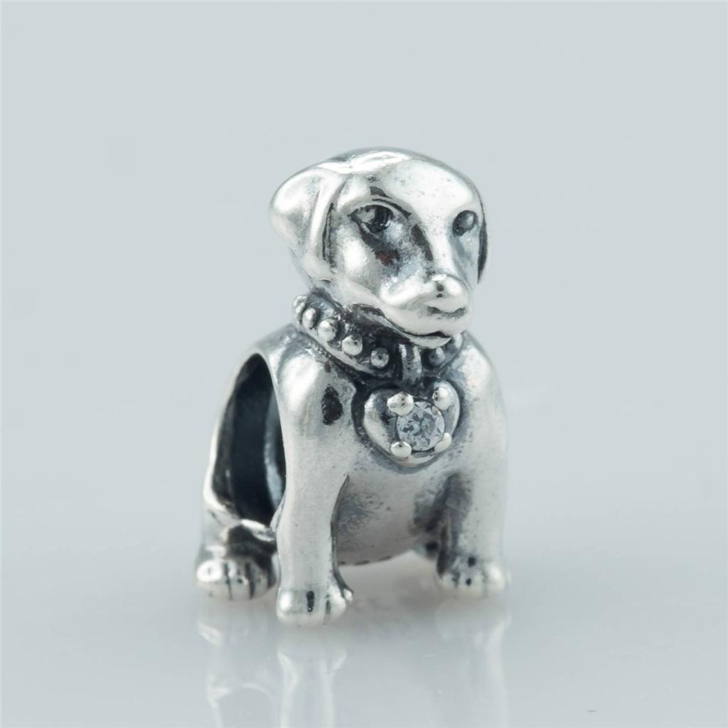 authentic genuine pandora labrador charm with cz 791379cz