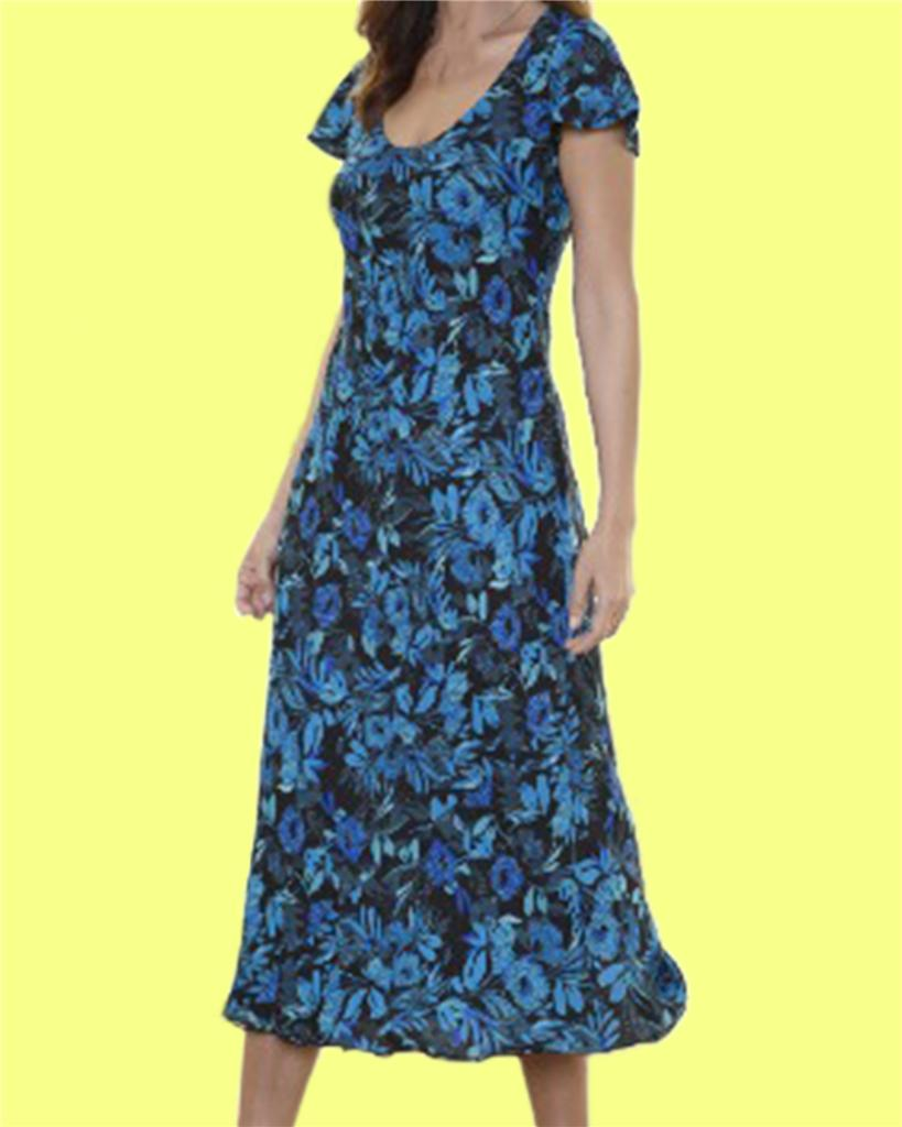 New-Simply-Be-Ladies-REVERSIBLE-DRESS-LENGTH-48-in-Size-12-14-16-Blue