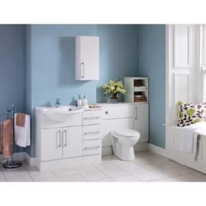 about new argos hygena single base floor standing mounted bathroom