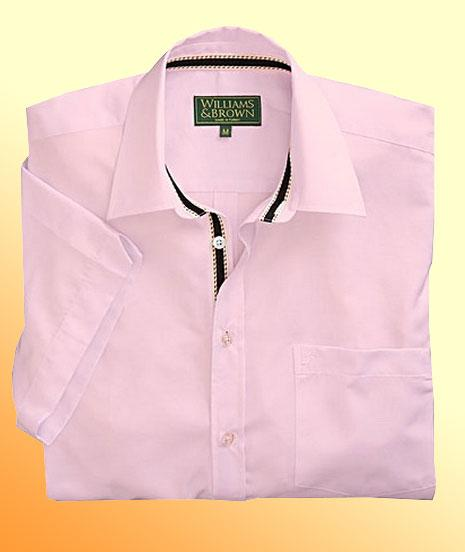 Williams brown oxford shirt short sleeve mens shirts for Mens short sleeve oxford shirt