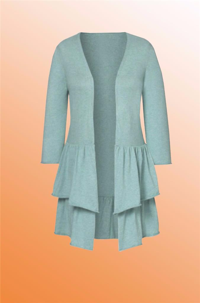 Womens Duck Egg Blue Cardigan 35