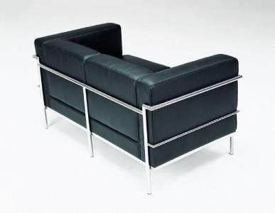 Sleek and simple modern 3 piece black leather sofa set for 3 piece black modern sectional sofa