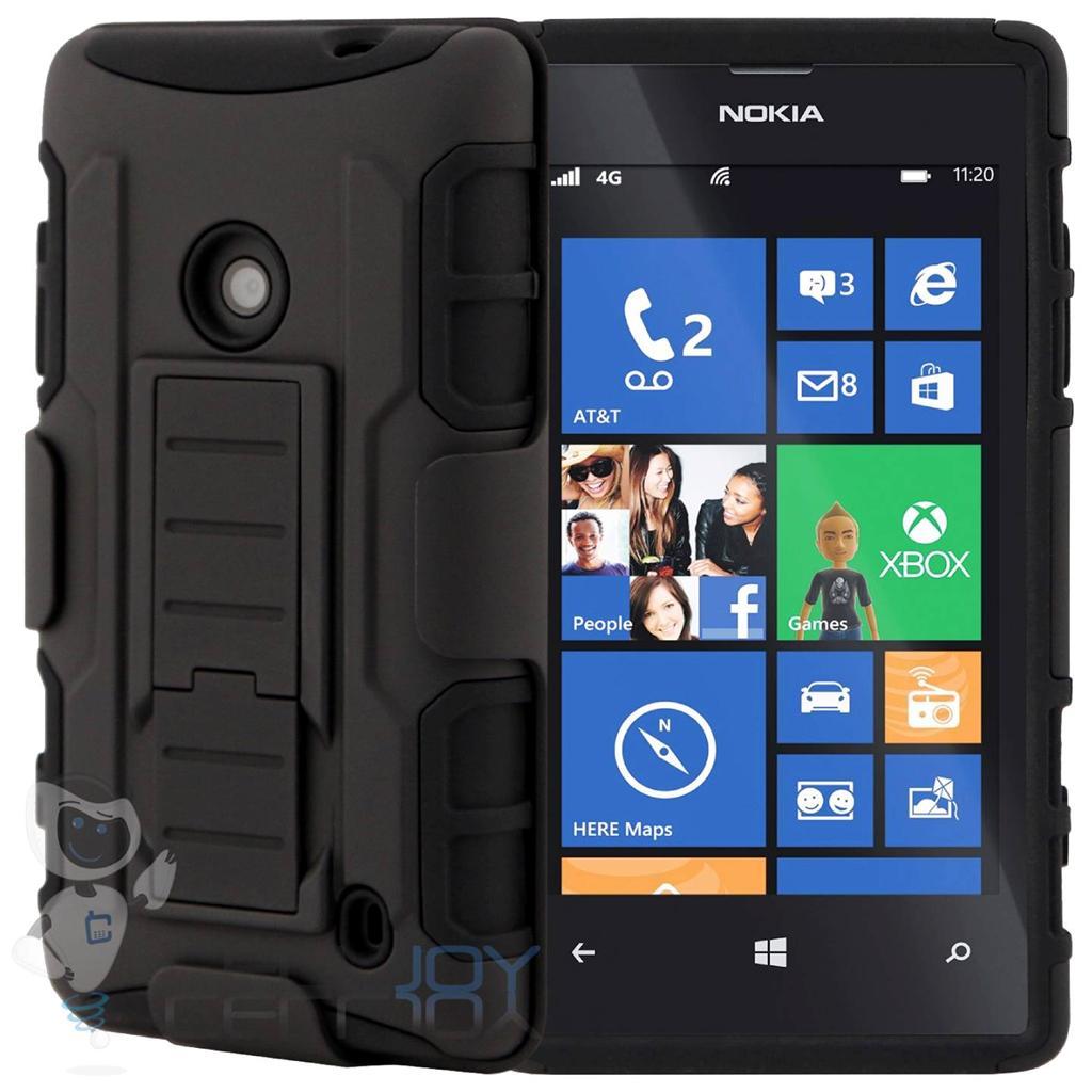 Case Design lumia 521 phone case : ... Nokia Lumia 520 [Future Armor] Belt Clip Holster Hard Case Skin Black