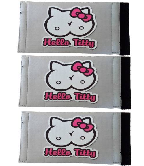 NEW-THREE-HELLO-TITTY-FUNNY-STUBBY-HOLDERS-STUBBIE-COOLERS-KOOZIE
