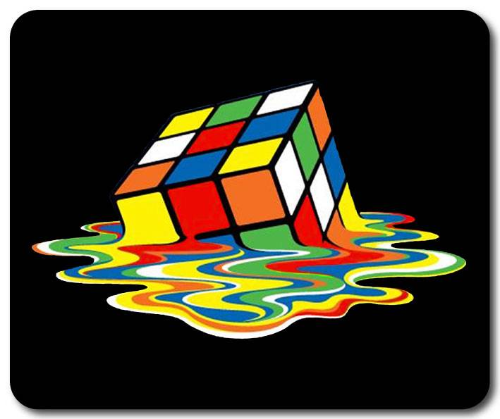 brand new big bang theory inspired melting rubik 39 s cube. Black Bedroom Furniture Sets. Home Design Ideas