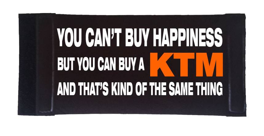 Cant-buy-happiness-buy-a-KTM-Velcro-stubby-cooler-quality-printed-koozie