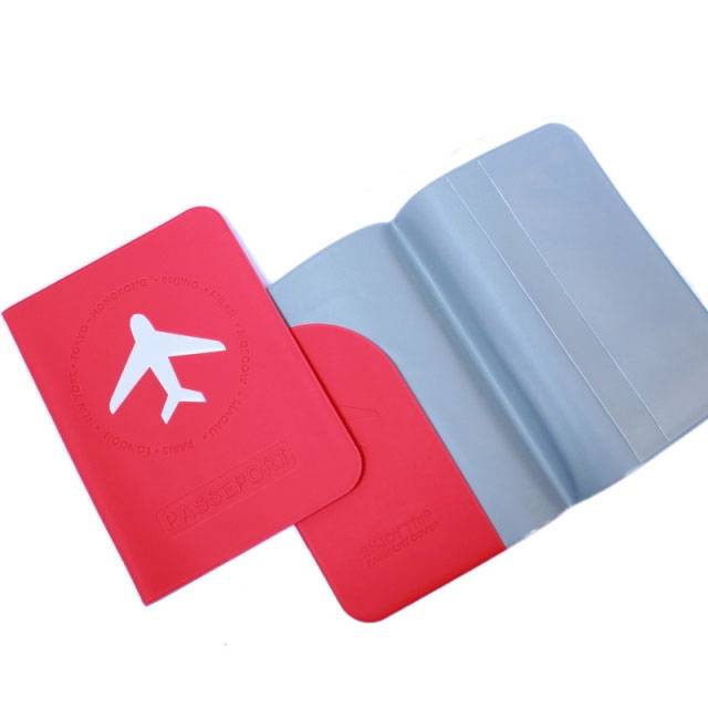 passport holder ID cards case cover simple style plane  0010206