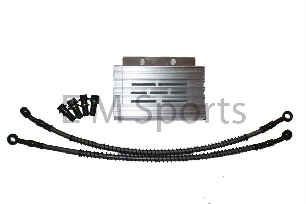 50cc dirt pit bike cnc oil cooler radiator silver parts