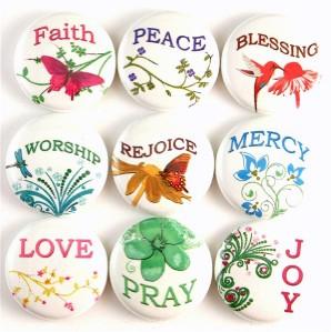 Religious Inspirational Words Church Fridge Magnet Pin