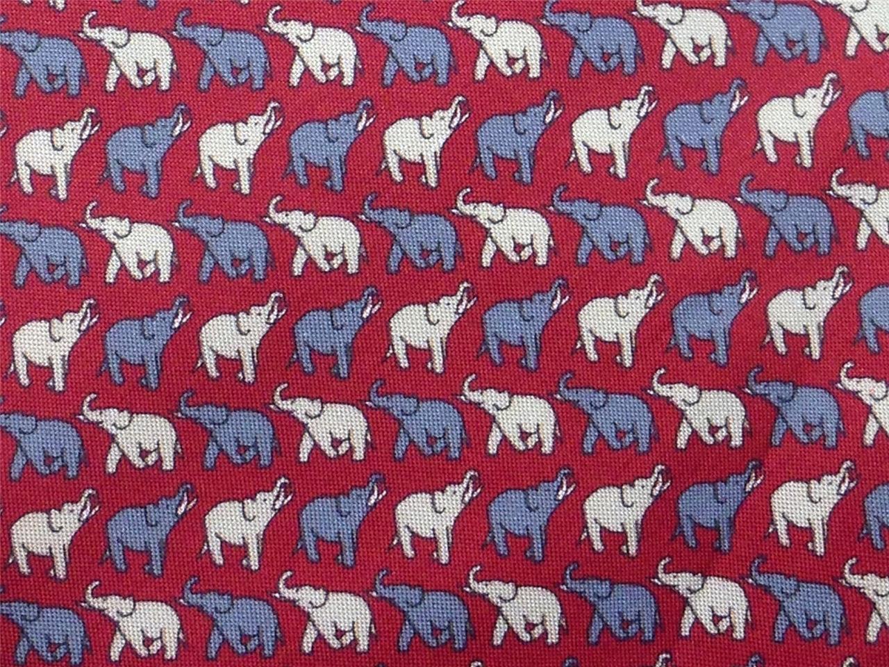 jim thompson tie elephant on animal novelty theme