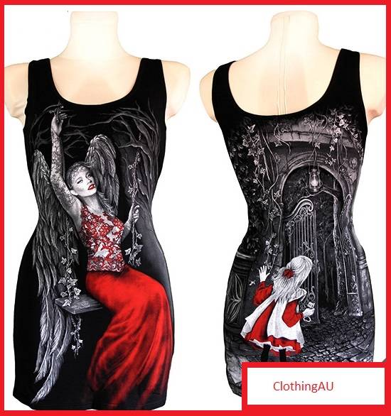 SECRET-GARDEN-angel-tunic-dress-top-ladies-blouse-gothic-punk-rave-clothing