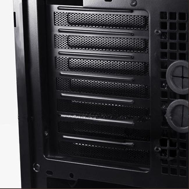 5pcs pci black steel ventilation rear slot covers brackets for standard pc case ebay. Black Bedroom Furniture Sets. Home Design Ideas