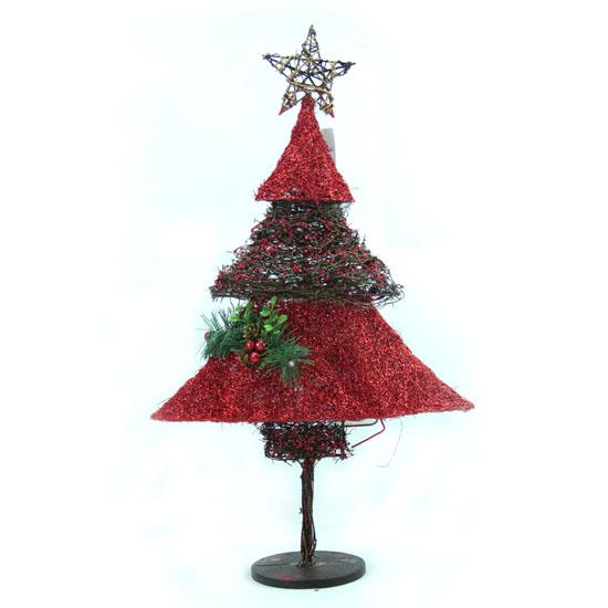 Rattan sisal christmas cone tree snowman xmas holiday for Sisal decoration
