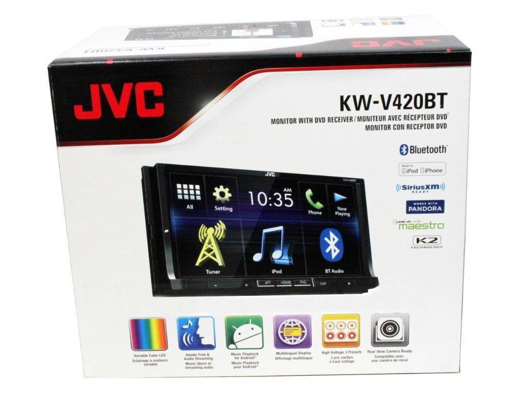 Jvc kd r432 cd usb car stereo system front usb aux input -  Jvc Kw V420bt 2 Din Bluetooth Dvd In Dash Receiver W 7 Tft Touchscreen