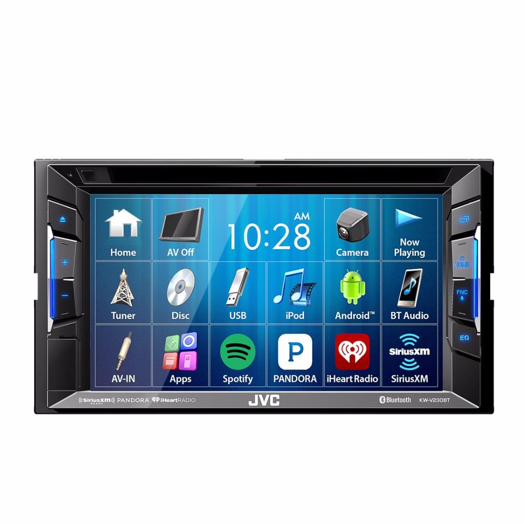 jvc kw v230bt 2 din car video in dash dvd bluetooth receiver w 6 2 touchscreen. Black Bedroom Furniture Sets. Home Design Ideas