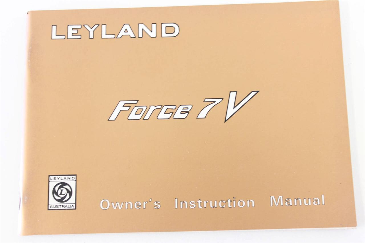 Leyland-P76-Force-7-owners-manual-new-old-stock