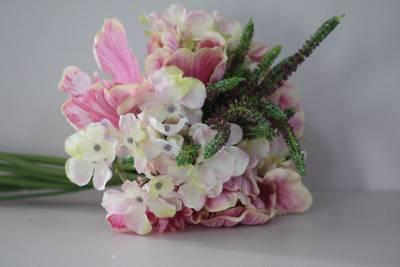 Pink lila hortensie b ndel blumenstrau bukett mit zweige for Schlafzimmer lila gra n