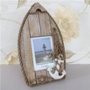 New rustic rope edged photo picture frame anchor nautical Rope photo frame