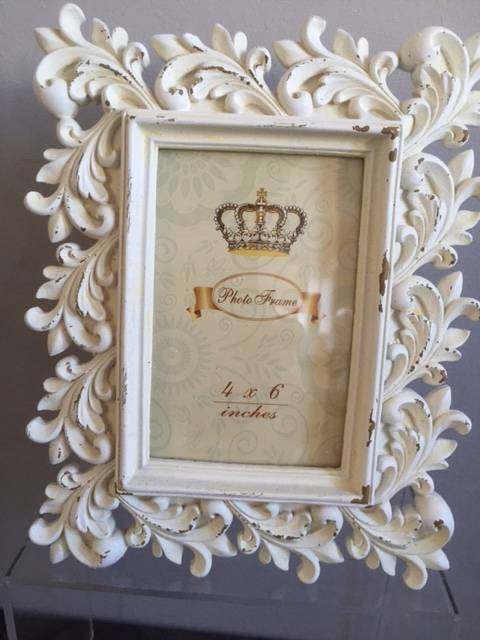 Vintage Shabby Chic Photo Picture Frame Free Standing Oval Rectangular Gift Idea