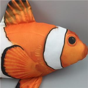 New finding nemo fish shape pillow cushion orange clown for Fish shaped pillow