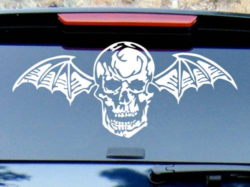 Avenged-Sevenfold-Vinyl-Decal-Sticker-AV7-Death-Bat-Rock-Car-Metal-Punk-Shirt