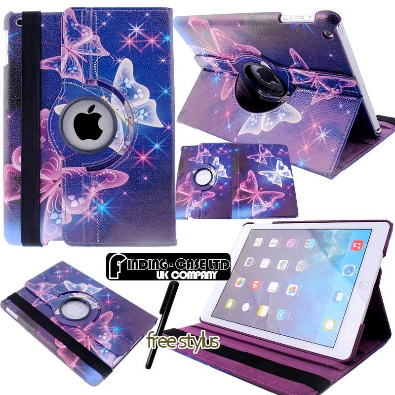 360° Rotating Leather Stand Case Cover for iPad 2 3 4 5  6 iPad Mini  iPad Air