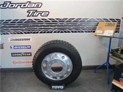 NEW 255/70R22.5 TRUCK TIRES & 22.5 ALUMINUM WHEELS DUALLY ...