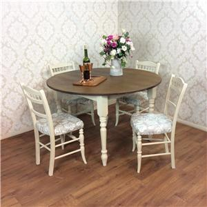 shabby chic dining table 4 chairs kitchen rustic pine farmhouse retro
