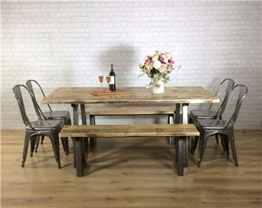 John lewis calia style dining table vintage industrial reclaimed wood