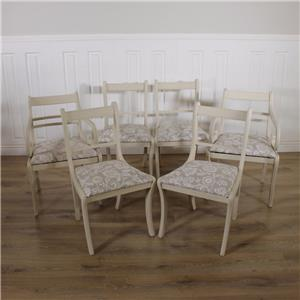 Shabby chic dining table 6 chairs solid antique kitchen for Rustic shabby chic dining table