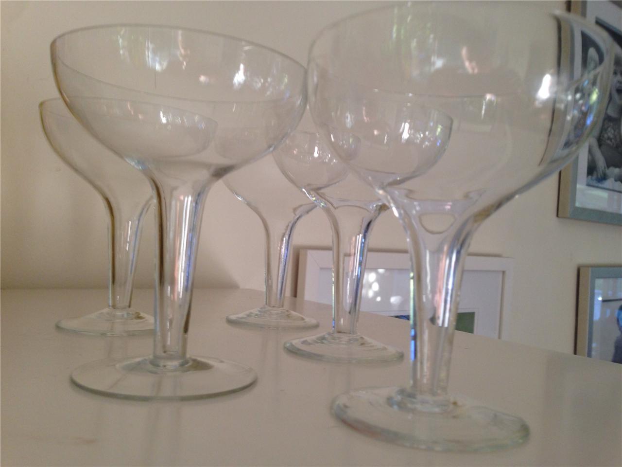 Vintage champagne glass hollow stem retro glasses 50s cocktail flutes ebay - Champagne flutes hollow stem ...
