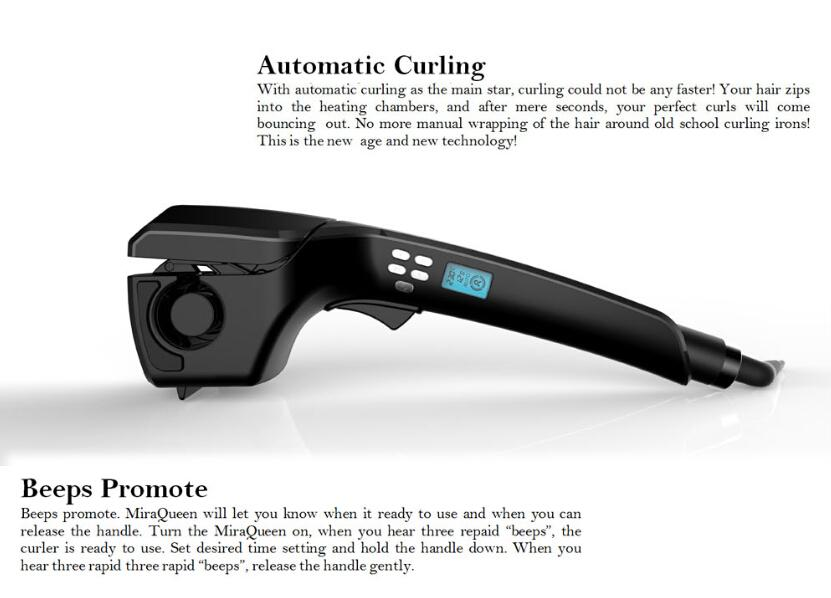 Curling iron miraqueen professional curling iron ceramic for A href text decoration