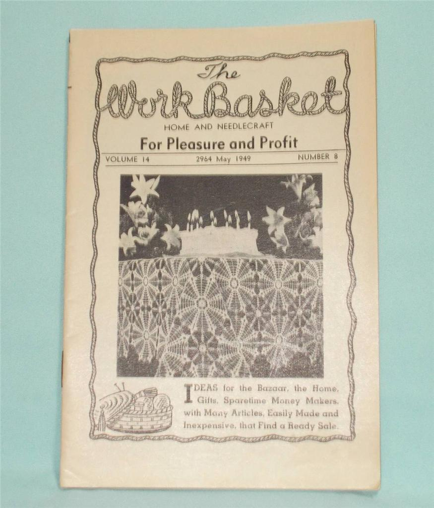 Knitting Quilt Magazine : Vtg workbasket magazine volume may crochet knit