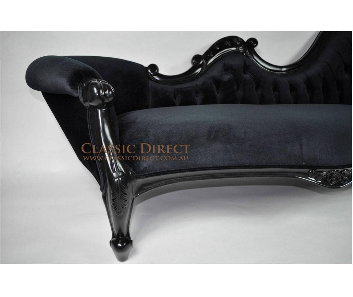 Main image for Black velvet chaise lounge