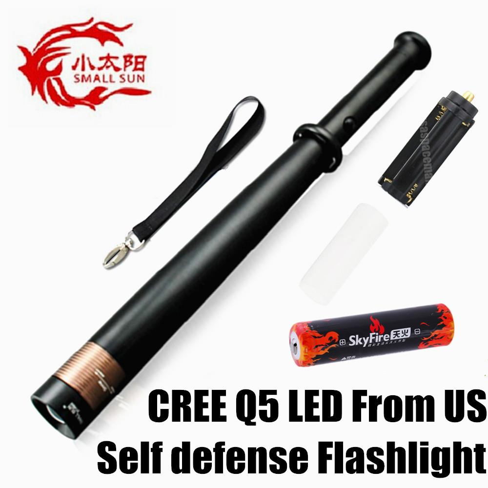 CREE Q5 LED Zoomable Tactical Self Defense Flashlight ...