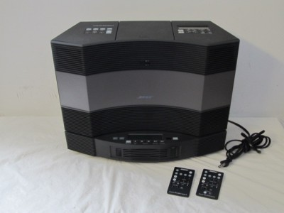 bose acoustic wave radio music system series ii 5 disc changer graphite w remote ebay. Black Bedroom Furniture Sets. Home Design Ideas