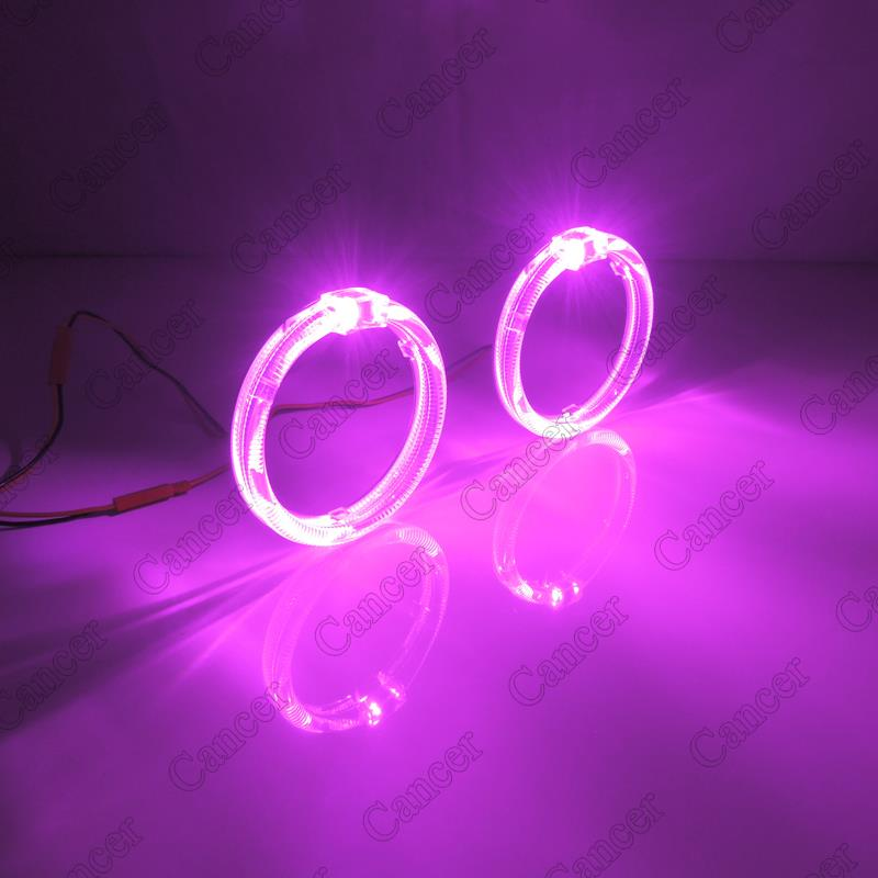 """Pink Purple 2.5"""" LED Light Guide Angel Eyes Halo Ring For ..."""
